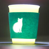 Novelty Felt Cup Sleeve Coffee Mug Sleeve w/Laser Die Cut Design