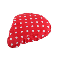 Nylon Bike Seat Covers with White Dots Printed