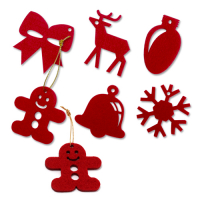 Custom Laser Cut Felt Christmas Hangings Xmas Ornaments 5x5cm