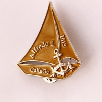 Custom Die Struck Soft Enamel Sailing Lapel Pins-Sport Lapel Pins School