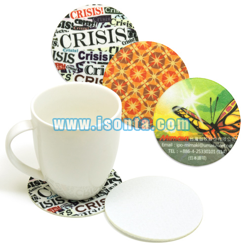 9cm Sublimation Felt Sublimation Circular Coasters Round (3mm)