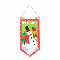 """Christmas Welcome Signs Snowman Felt Pennants Christmas Flags"