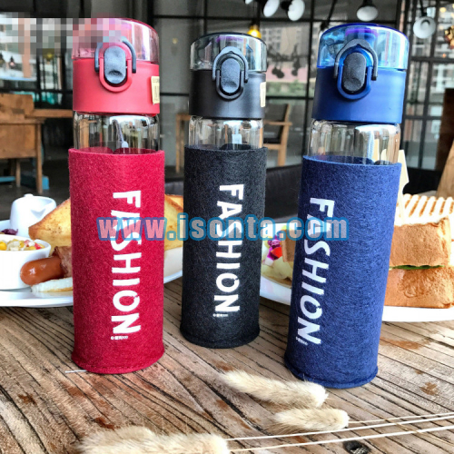Custom Slip Resistant Felt Cup Sleeve Glass Water Bottle Sleeve Koozie