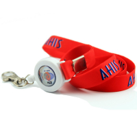 "3/4"" Custom Soft Polyester Full Colour Dye Sublimation Lanyards with Retractable Badge Reel (20mm)"