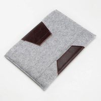 Customized Ultrabook Sleeve Case Felt & Leather Notebook Cover Pouch