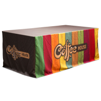 Sublimation Fitted Logo Table Cloths for table size of 90x210cm