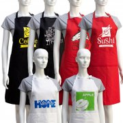100% Cotton Cooking Aprons with Screen Printed
