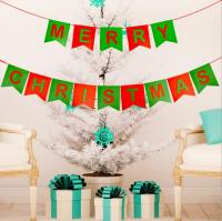 """Felt Merry Christmas Banners Garland Bunting Flags Decorazione da parete"