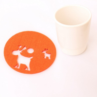 Customized Laser Die Cut Felt Elk Coasters