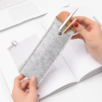 Mini Flip Over Felt Portable Pen Holder Pencil Bag Pouch Storage Bag
