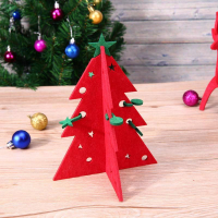 Custom Felt Christmas Tree Ornament Desktop Craft Christmas Decoration