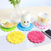 Lovely Hollow-out Felt Cup Coaster Table Protector Tea Coffee Coaster