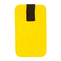 Felt Cell Phone Case Bag 8.5 x 14 cm-Yellow