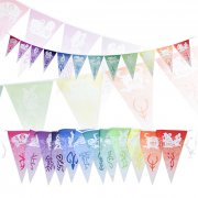 12-in-1 Triangular Buntings by Sublimation with Flag Size of 12 x 18 inches