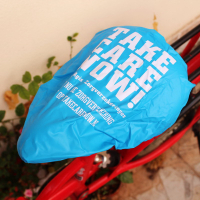 All Over Screen Printed PVC Bicycle Saddle Seat Rain Cover-Whole Cutting