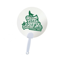Promotional Team Spirit Transparent Clear Hand Fan