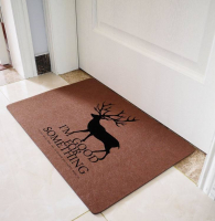 Custom Felt Non Slip Floor Entrance Door Mat Outdoor Doormat-Elk Design