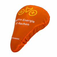 210T Custom Water Repellent Bicycle Saddle Covers-Vibrant Orange