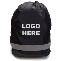Regular Size Reflective 190T Polyester Backpack Covers 50H x 40W x 10D cm