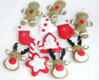 Custom Felt Christmas Ornaments Xmas Tree Hangings