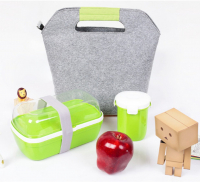 Custom Lunch Bag Felt Insulated Lunch Tote Bag Picnic Portable Storage Bag