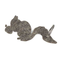 Custom Designer Wool Felt Key Chain Hanger- Chipmunk Shaped