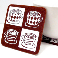 Custom Printed Round Felt Coaster Cup Mat Coffee Coaster Home Furnishing Decor