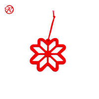 Custom Felt Christmas Ornaments Xmas Tree Hanging Decoration-Snowflake
