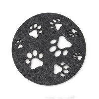 Custom Absorbent Felt Coaster Table Coaster Cup Mat-Paw Style