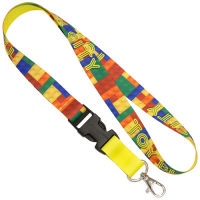 "3/4"" (20mm) Custom Dye Sublimation Lanyards Full Color"