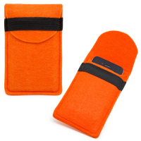 Custom Felt Mobile Phone Pouch Bag with Protective Cover for iPhone 5-Orange