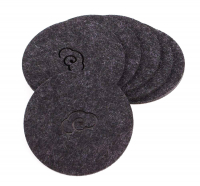 Custom Round Felt Drink Coaster Cup Mat with Laser Engraved Chinese Style Pattern
