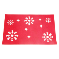 Custom Snowflake Christmas Placemat Felt Xmas Placemat Holiday Table Mat