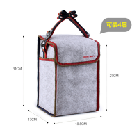 Promotional Personalised Lunch Bag Insulated Felt Lunch Box Snack School Office Picnic Cooler Bag