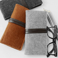 Felt Eyeglasses Sleeve Pencil Case Bag Small Bag