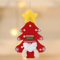 Custom Felt Xmas Hanging Ornaments Christmas Decorations-Santa