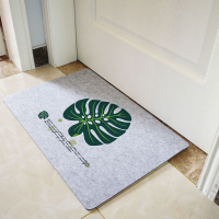 Full Color Printed Felt Door Mats Floor Mats Floor Rugs Carpets-Monstera