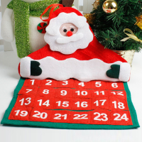 Custom Wall Hanging Garland Felt Christmas Advent Calendar-Santa