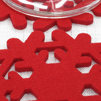 Customized Felt Snowflake Glass Coaster Wine Mat Christmas Tree Decoration Pendant