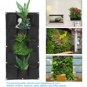 15 Pockets Greening Wall Hanging Felt Garden Plant Grow Bag Plant Pots