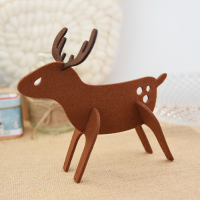 DIY Felt Christmas Desktop Ornaments Xmas Party Supplies-Elk