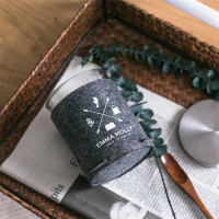 Custom Felt Candle Sleeve Holder with Button Design-Logo Promo