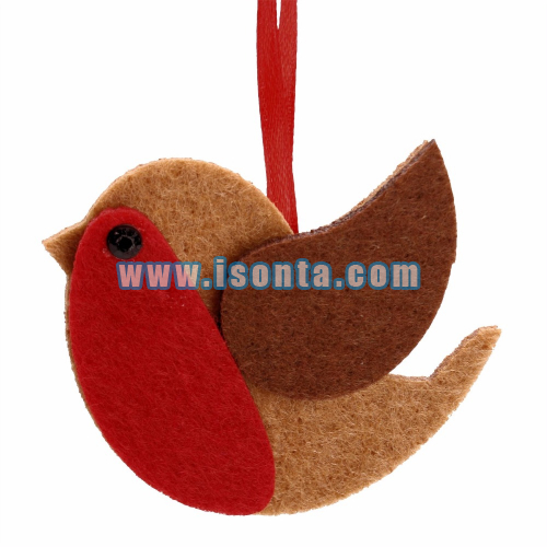 Custom Felt Christmas Tree Hanging Ornament-Bird