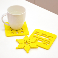 Laser Cut Custom Shaped Felt Drink Coasters 5mm Thick