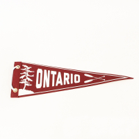 "Custom Printed Felt Pennants Triangle Banners Sport Flags for Events-5""x12"""
