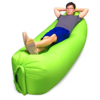 "New Outdoor Single Layer Inflatable Air Sofa Couch Lounger Sleeping Bag 90.6"" L x 27.6"" W"
