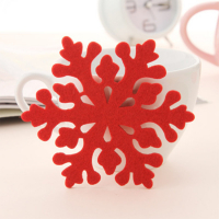Fancy Customized Felt Cup Coaster Table Coasters-Snowflake