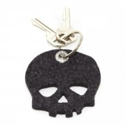 100% Germany Merino Wool Felt Key Tag-Skull