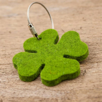 Wholesale Felt Advertising Keychain with Logo Imprinted