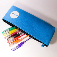 Soft Felt Zipper Pencil Bag Pen Case Storage Pouch Students Schools